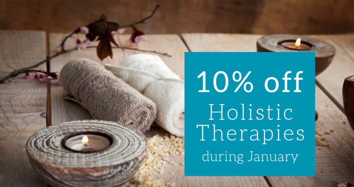 10% off Holistic Therapies