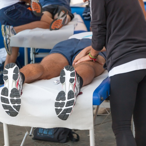 Pre-event and post-event sports massage