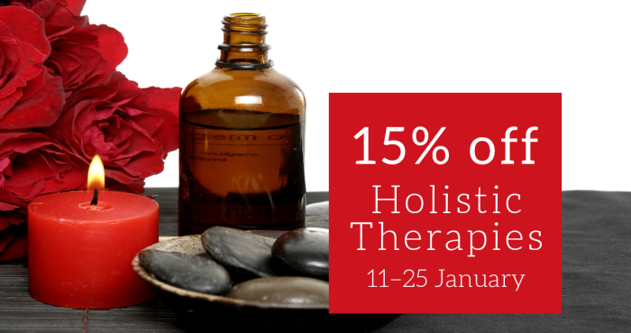 15% off Holistic Therapies